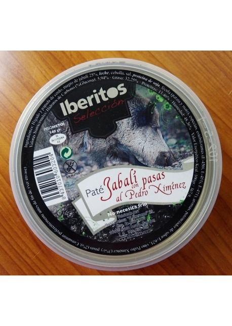PATÉ DE JABALÍ CON PASAS AL PEDRO XIMÉNEZ